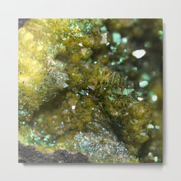 Geode Abstract Citrine Metal Print