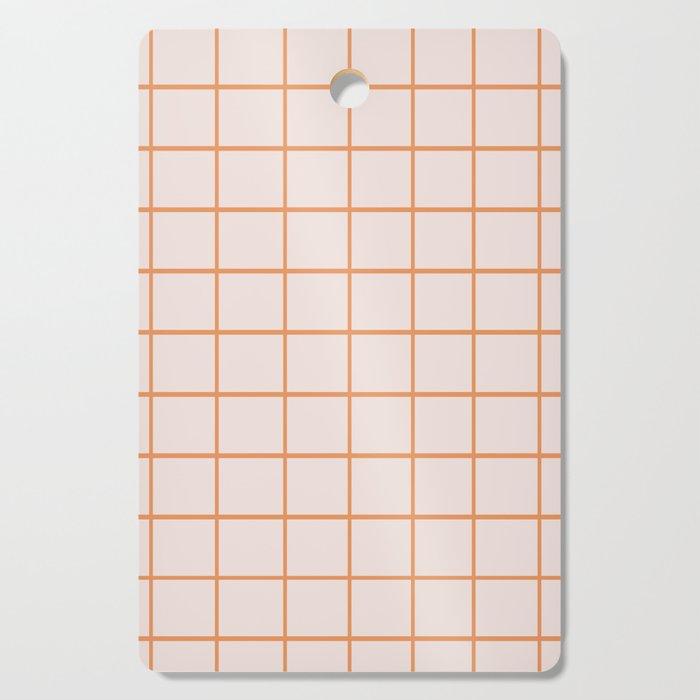 Retro Orange Checks Cutting Board