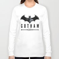 gotham Long Sleeve T-shirts featuring Gotham City   by J Styles Designs