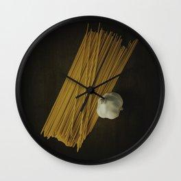 Pasta and Garlic Wall Clock