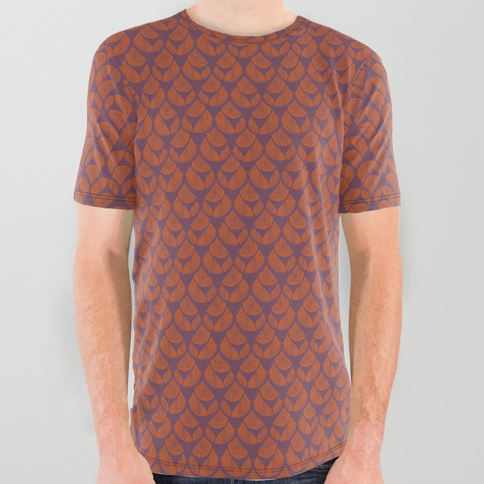 Orange Drops All Over Graphic Tee
