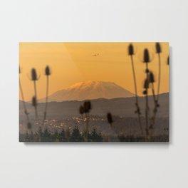 Sunset Mt. St Helens Portland Oregon, United States Metal Print