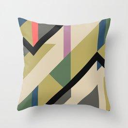 Modernist Dazzle Ship Camouflage Design Throw Pillow