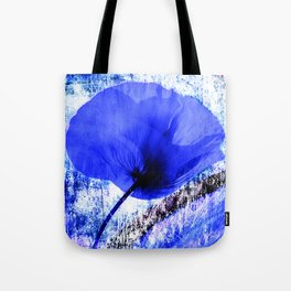 Blue Poppy vintage 222 Tote Bag