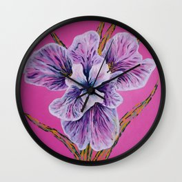 On Persian Pink Wall Clock