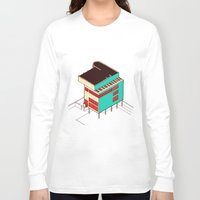 architecture Long Sleeve T-shirts featuring Music & Architecture by Roland Lefox