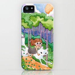 A Forest Romp iPhone Case