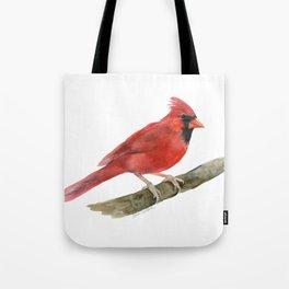 Red Cardinal Watercolor Tote Bag