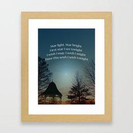 Star Light Star Bright Framed Art Print