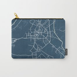 Guilin Blueprint Street Map, Guilin Colour Map Prints Carry-All Pouch