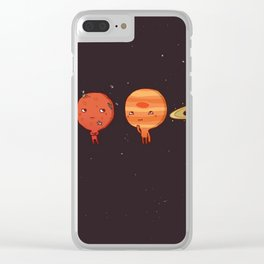 planet sun earth cute art new hot 2018 style cuteness star stars Clear iPhone Case
