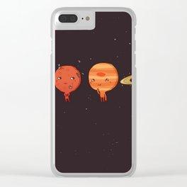 planet sun earth cute art new hot 2018 style cuteness star stars Clear iPhone Case