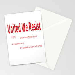 United We Resist Stationery Cards