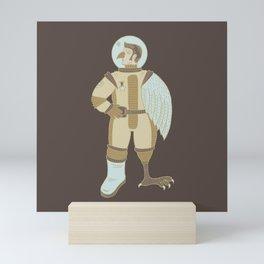 Bird Man Astronaut Mini Art Print