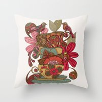 good morning Throw Pillows featuring Good Morning by Valentina Harper