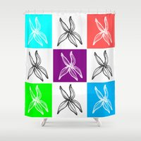 popart Shower Curtains featuring Starfish PopArt Collage by ATheroux
