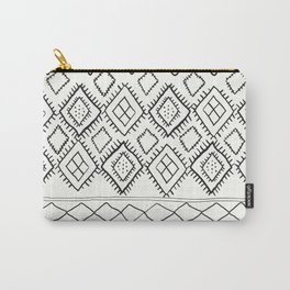 Beni Moroccan Print in Cream and Black Carry-All Pouch
