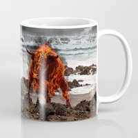 the last unicorn Mugs featuring The Last Unicorn by Christy McNutt