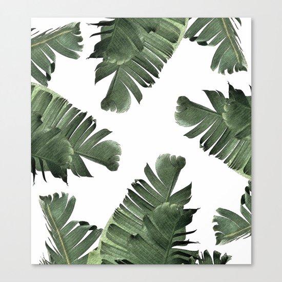 Banana Leaf Frenzy #society6 Canvas Print