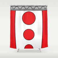 persona Shower Curtains featuring Persona 4 Teddie Suit by Bunny Frost