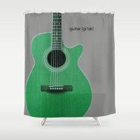 guitar Shower Curtains featuring Guitar  by MillennialBrake