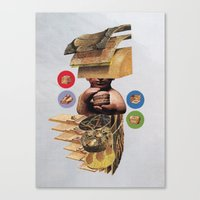 burger Canvas Prints featuring Burger by Lerson