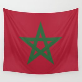 Morocco flag emblem Wall Tapestry