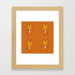 Stickimals - Cat Framed Art Print