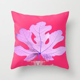 Fig Leaf Diamond Heart Christmas Throw Pillow
