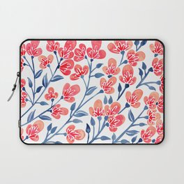 Cherry Blossoms – Melon & Navy Palette Laptop Sleeve