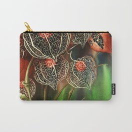 Botanical, Chinese Lantern, Winter Cherry Carry-All Pouch