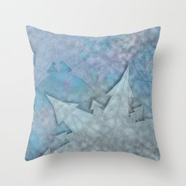 Snowflakes and Ice Throw Pillow