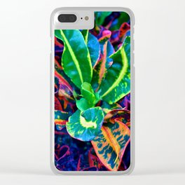 Psychedelic Lettuce Clear iPhone Case
