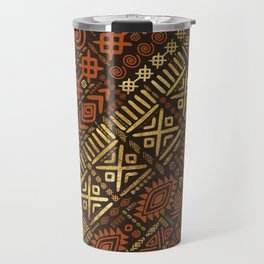 Ethnic African Pattern- browns and golds #5 Travel Mug