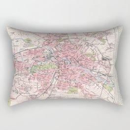 Antique Map of Berlin & Environs Rectangular Pillow