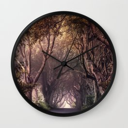 Autumn alley in Northern Ireland Wall Clock