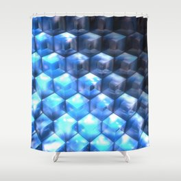 By the Steps of Atlantis Shower Curtain