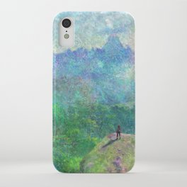 Legend of Zelda Breath of the Wild Intro Impressionist Painting iPhone Case
