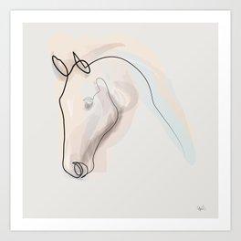 Oneline Horse 70615 Art Print