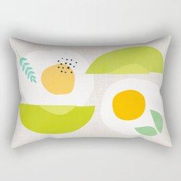 Minimalist Avocado and Eggs Rectangular Pillow