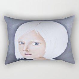 Juliane Snow - LIttle Miss Winter Rectangular Pillow