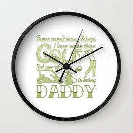 Golf Daddy Wall Clock