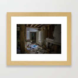 Abandoned Living Room Framed Art Print