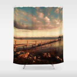 The Last Sunset Shower Curtain