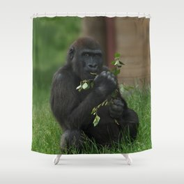 Cheeky Gorilla Lope Shower Curtain