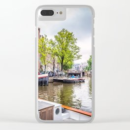 Canal in Amsterdam Clear iPhone Case