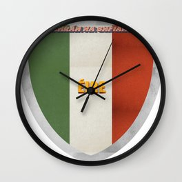Shield of Eire Wall Clock