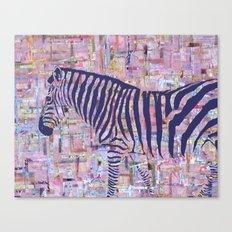 Zelda the Zebra Canvas Print