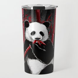 Red Bamboo Panda Travel Mug