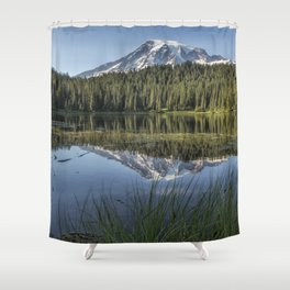 Reflecting a Mountain Shower Curtain
